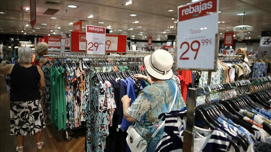 La venta de ropa sube el 4,8 % hasta septiembre