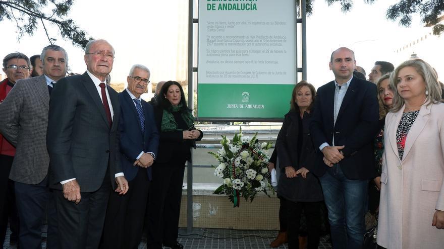 """La señalización donde murió García Caparrós como Lugar de Memoria, """"acto de justicia y dignidad"""""""