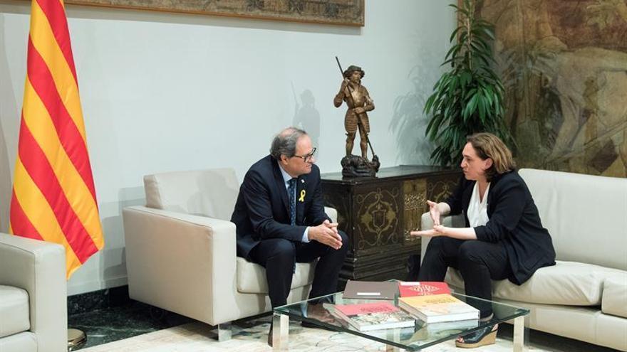 Colau y Torra pactan abrir etapa de diálogo y reactivar la comisión bilateral