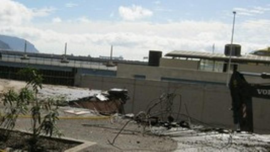 Vista de las obras de demolición.