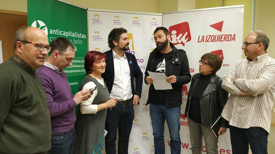 Presentación de la confluencia de IU Castilla y León, Anticapitalistas, Partido Castellano y Alternativa Republicana