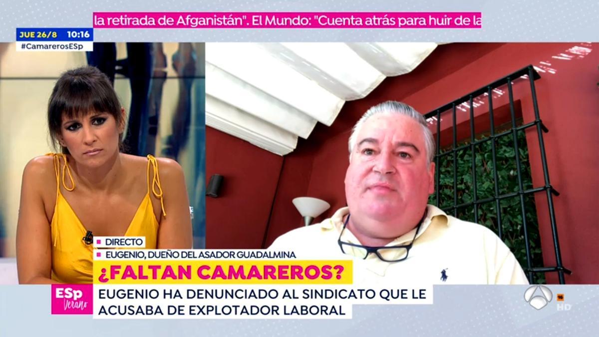 Lorena García y José Eugenio han hablado otra vez en 'Espejo Público'