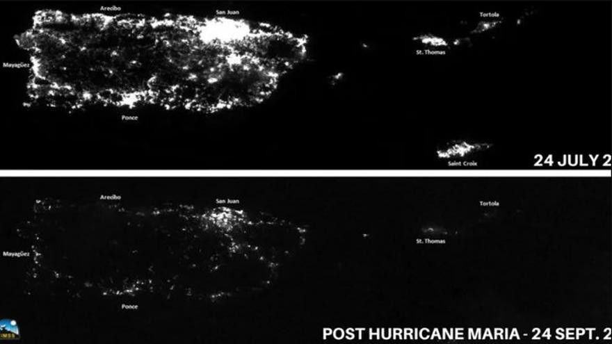 La red eléctrica de Puerto Rico, antes y después del huracán María