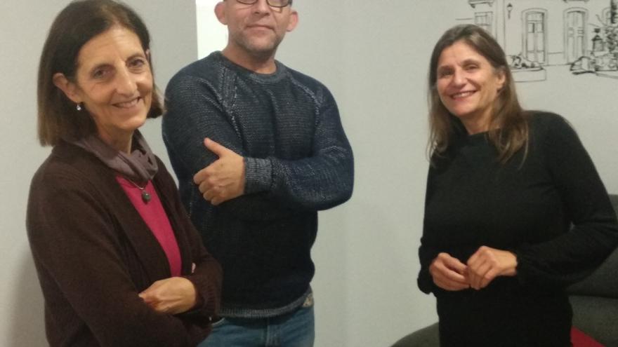 El director de 'Danzantes', Juan Vicente Chuliá, y la productora, María Gómez