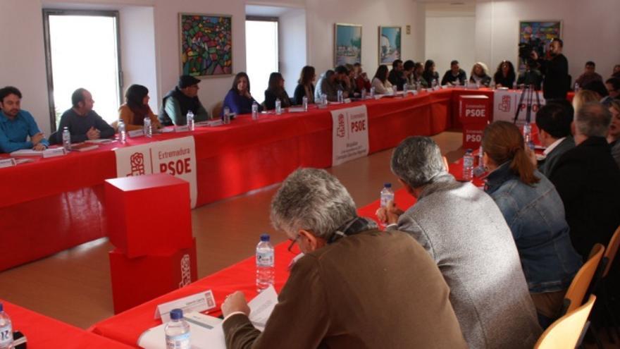 Ejecutiva Regional del PSOE en Miajadas