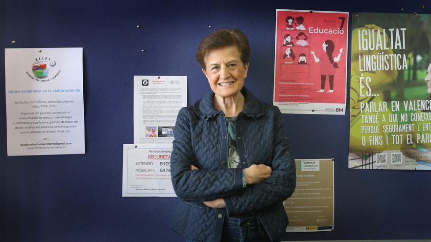 Adela Cortina, en la facultad de Filosofía de la Universidad de Valencia, donde es catedrática emérita