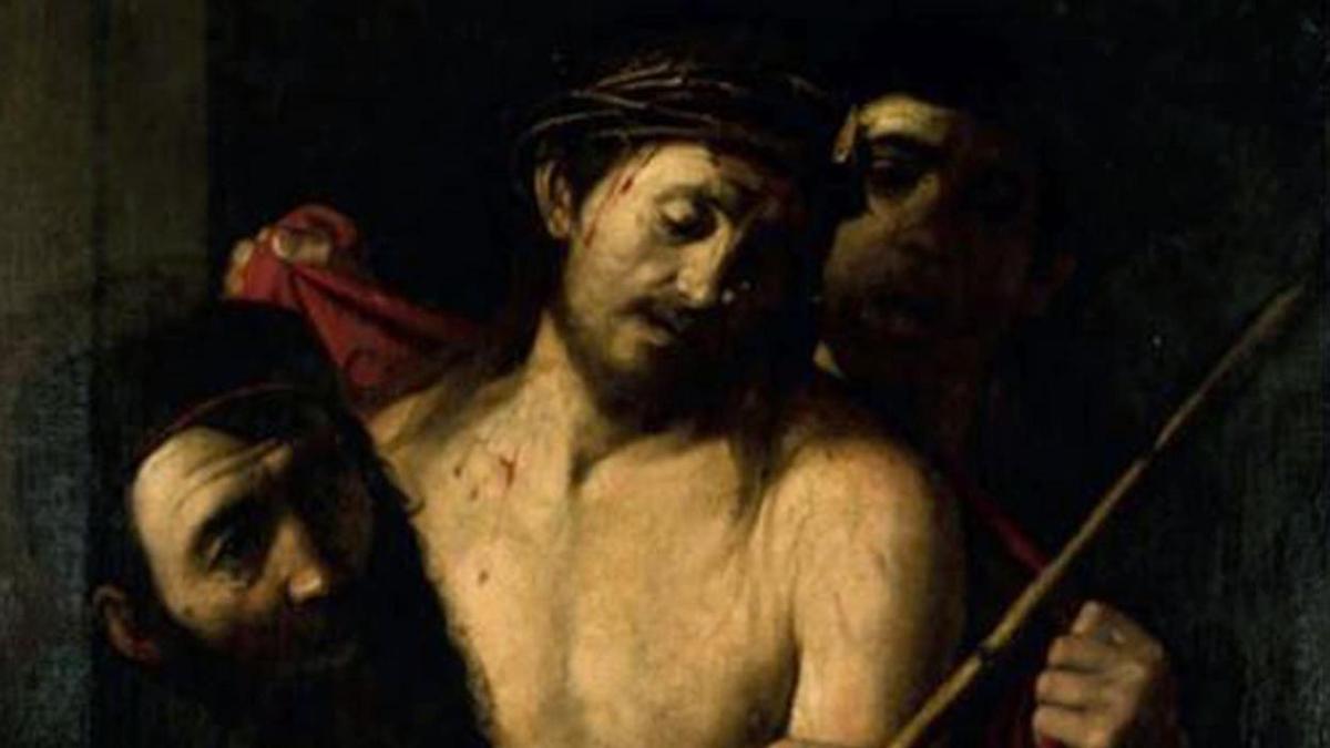 """""""Ecce homo"""", un posible Caravaggio, retirado de la subasta de la Casa Ansorena de Madrid este jueves."""