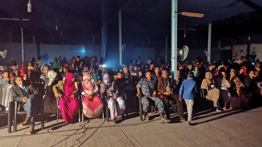La Escuela de Cine del Sáhara Occidental ha puesto a punto el salón de actos de Dakhla para el evento