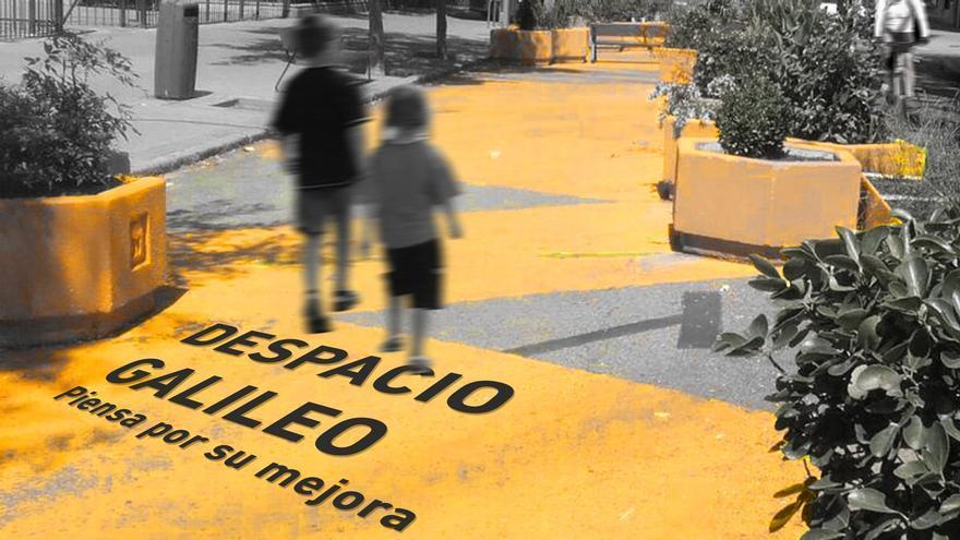 Cartel anunciador del proceso participativo sobre Galileo