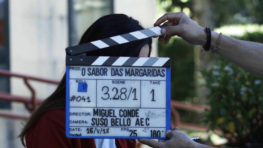 """Foto del rodaje de """"O sabor das margaridas"""", producción de TVG y CTV"""
