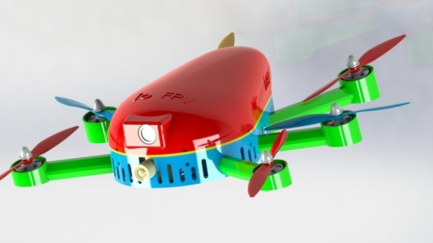 El hexacóptero IO FPV diseñado por Alfonso Borja y un profesor de la Universidad Politécnica de Valencia