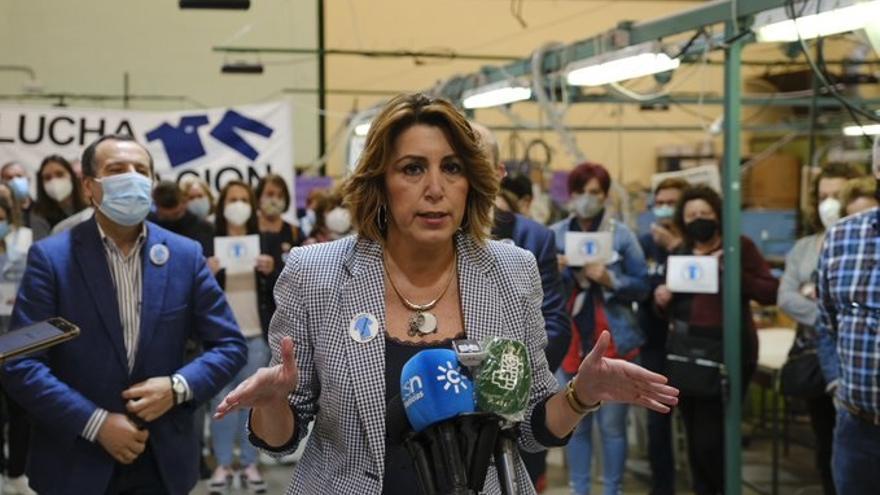 La secretaria general del PSOE de Andalucía, Susana Díaz