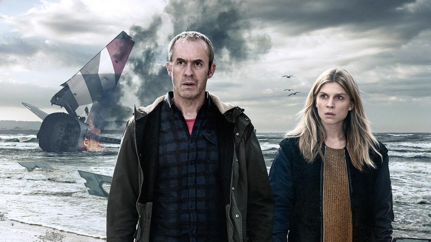 Stephen Dillane y Clémence Poèsy, protagonistas de 'The Tunnel'