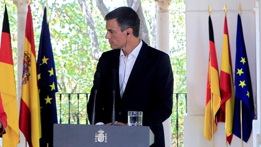 Pedro Sánchez y Angela Merkel ofrecen una rueda de prensa conjunta