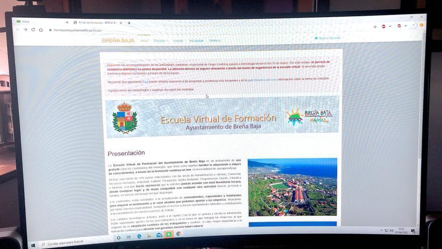 'Escuela Virtual' de Breña Baja.