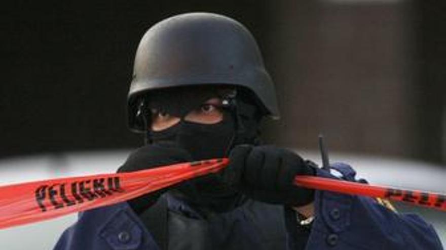 Policia mexico mexicana cordon policial