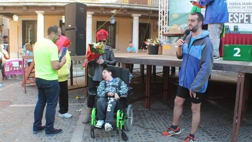 Aimar Abril en un evento celebrado en Tordesillas