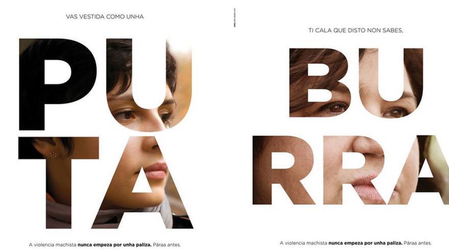 Dos imágenes de la campaña / CONCELLO DE PONTEVEDRA
