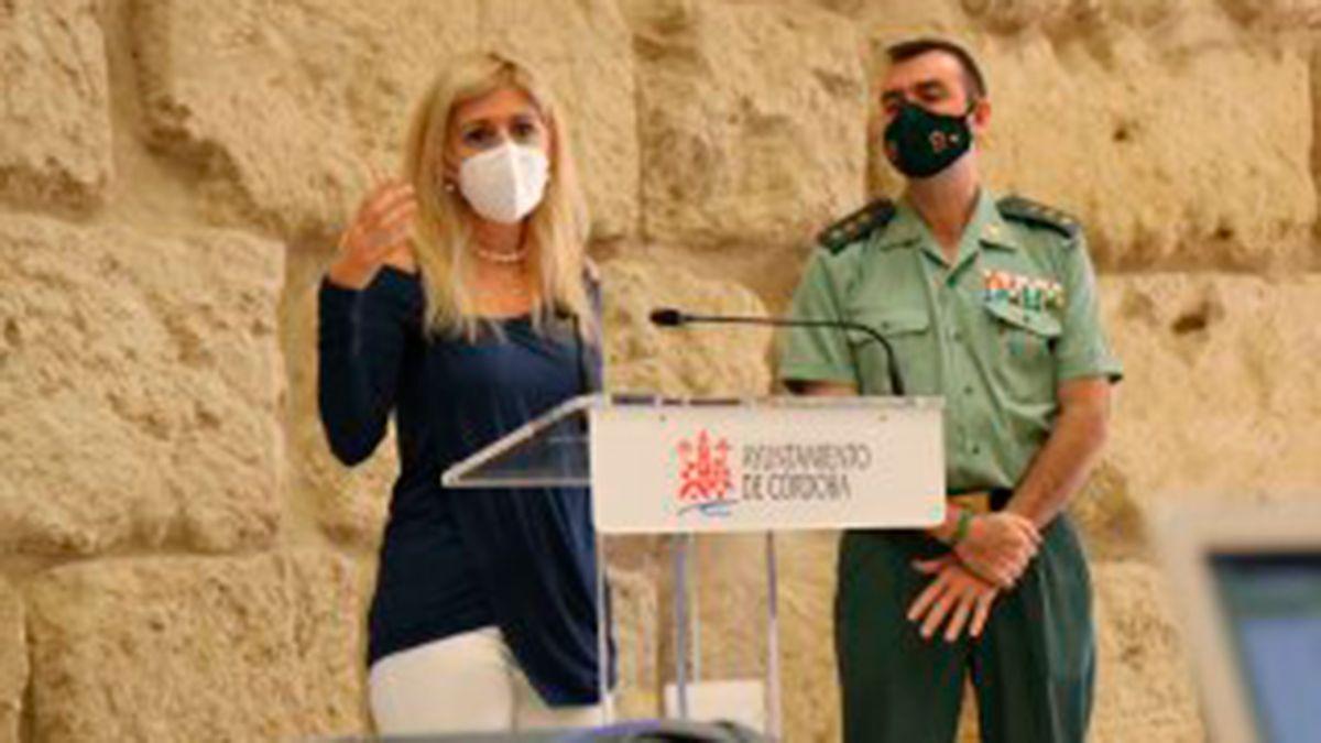 Lourdes Morales y Juan Carretero presentan las medidas tecnológicas para los eventos de la patrona de la Guardia Civil