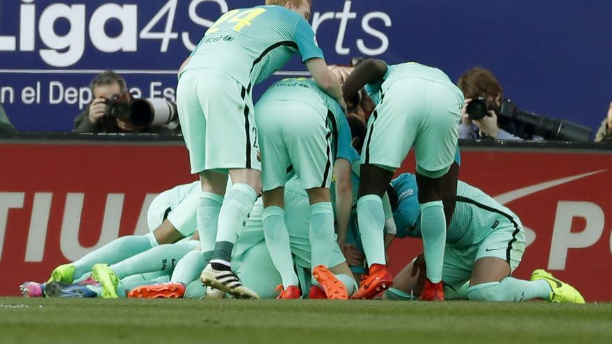 El Barça sumó tres puntos de oro frente al Atlético de Madrid.