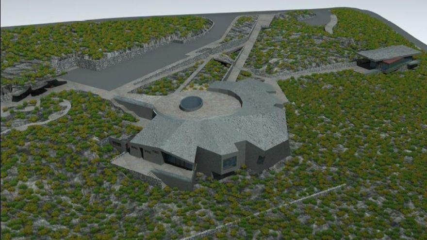 Recreación del futuro Centro de Visitantes del Roque de Los Muchachos.