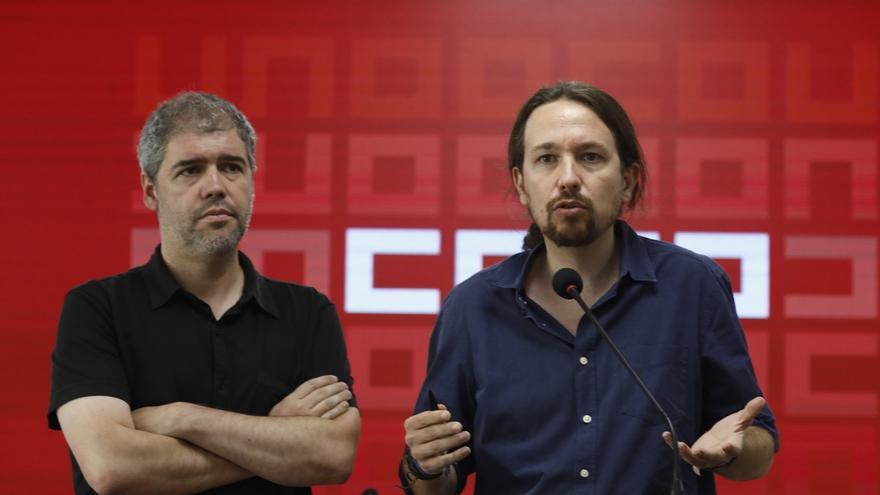 """Pablo Iglesias defiende las """"oportunidades"""" de gobernar con el PSOE en Castilla-La Mancha a pesar de los """"peligros"""""""
