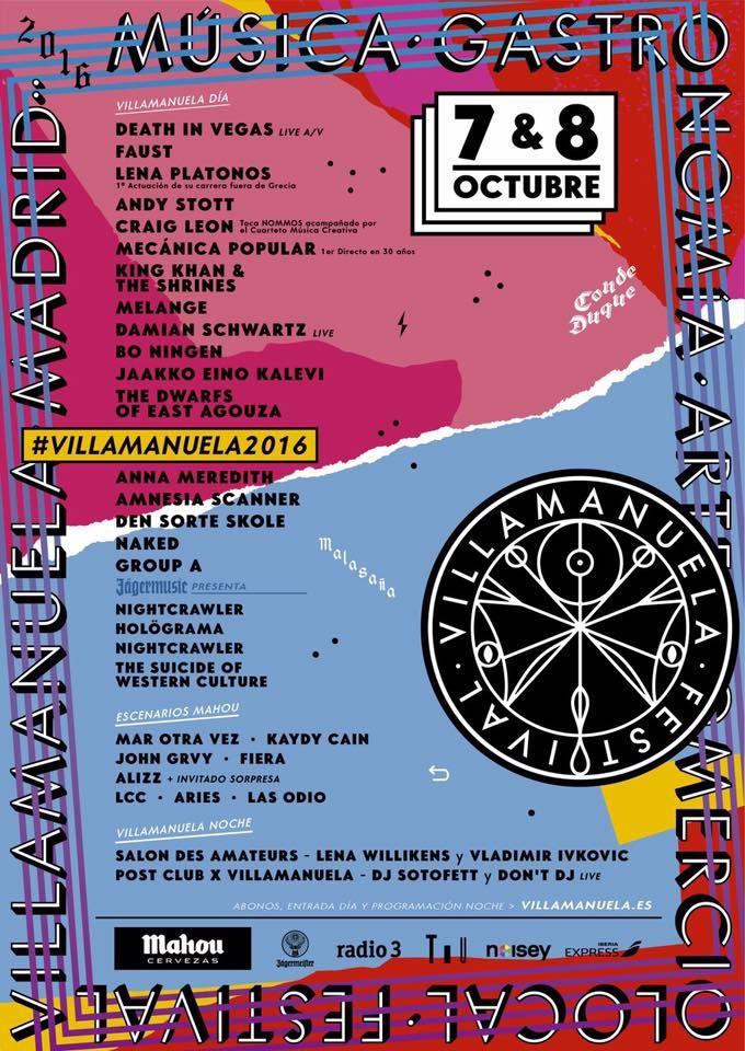 Cartel del festival Villamanuela 2016