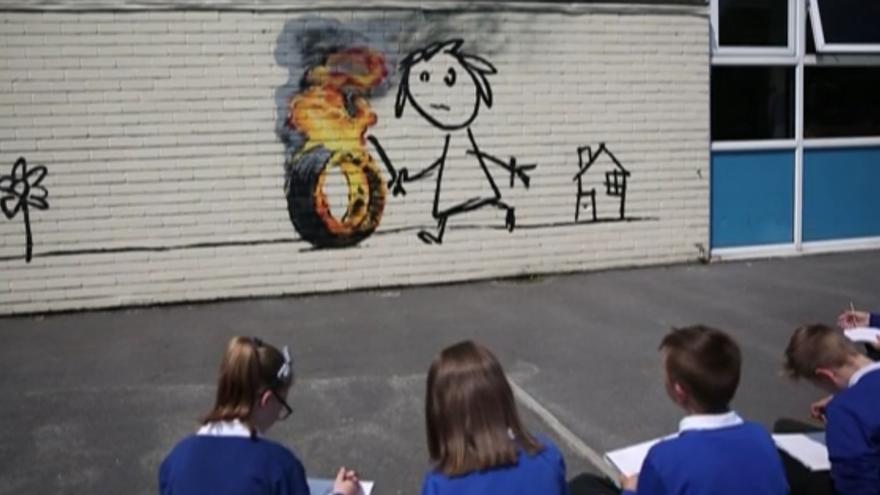 La intervención de Banksy en el colegio de Bristol