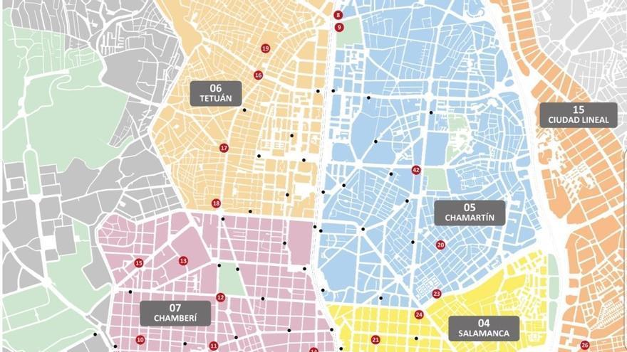 Nueva ampliación de Bicimad. Mapa de la EMT. / @EMTmadrid