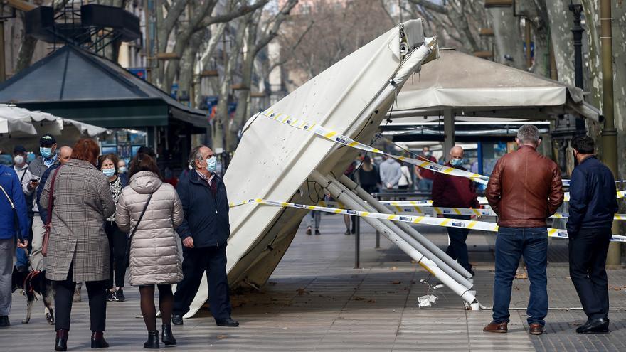 Los comerciantes cifran en 1,3 millones los daños por los disturbios en Barcelona