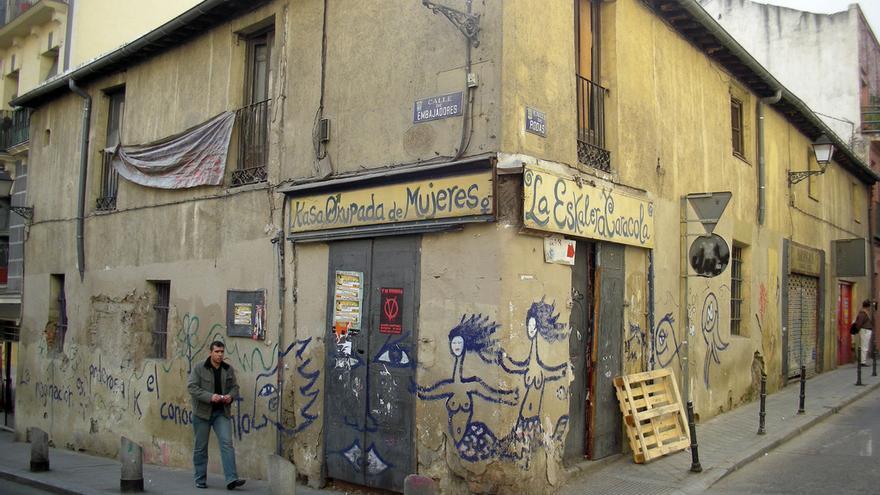 Antigua sede del centro social feminista Eskalera Karakola, en Lavapiés (Madrid). Foto: Daniel Lobo CC BY