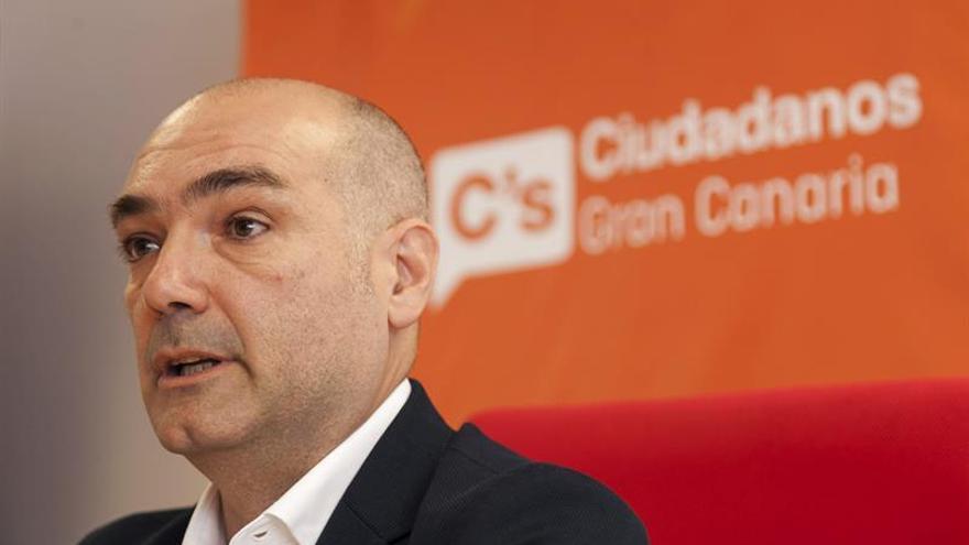 Manuel Romero, cabeza de lista de Ciudadanos al Parlamento de Canarias por Gran Canaria. EFE/Ángel Medina G.