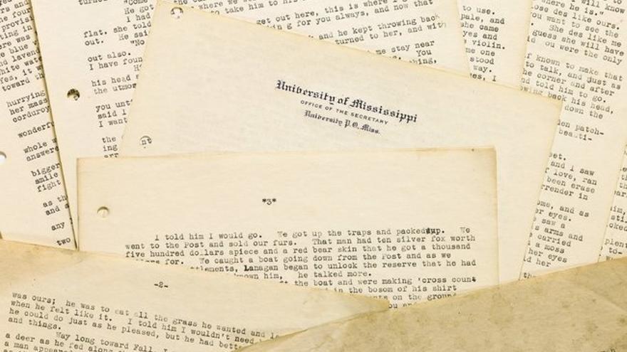 Parte de los escritos inéditos de Faulkner que serán subastados
