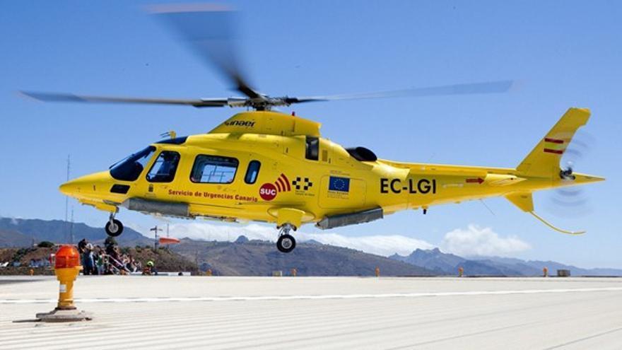 Helicóptero del SUC, en una imagen de archivo