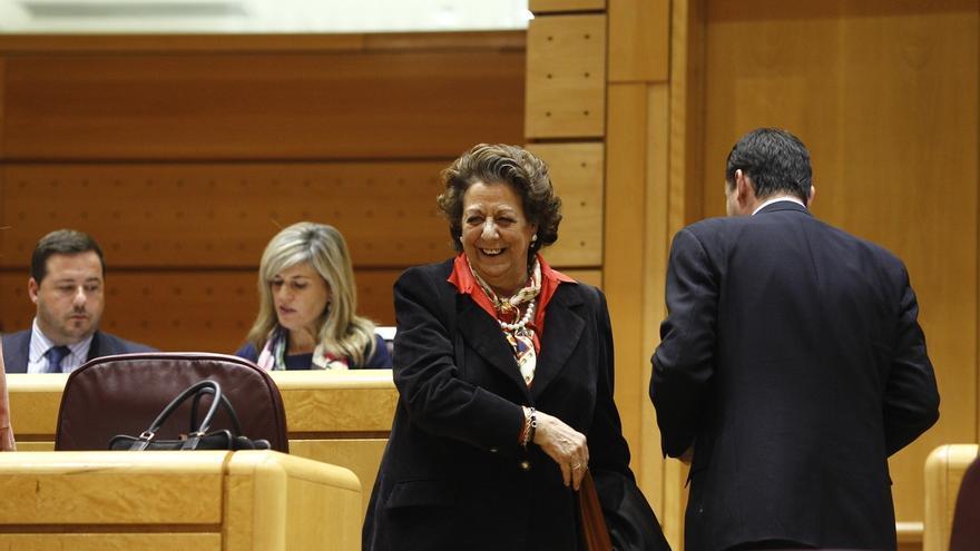 La exalcaldesa de Valencia, Rita Barberá, en el Senado