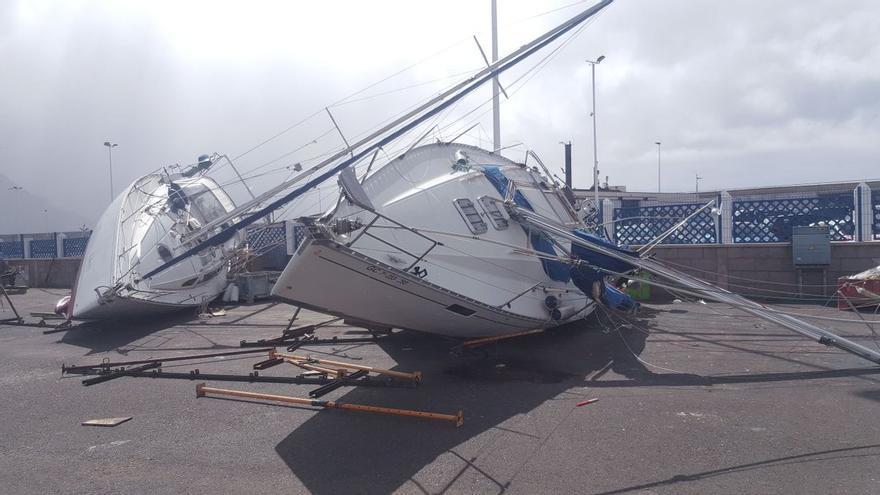 Fuerte viento en el Puerto de Las Nieves