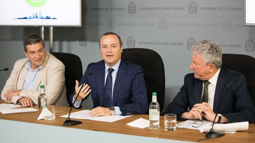 Javier Doreste, Augusto Hidalgo y Pedro Quevedo