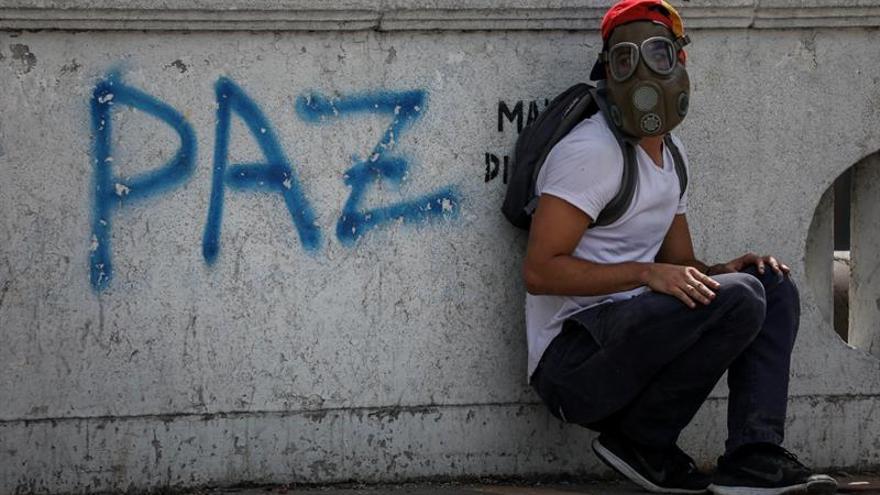 """Los opositores venezolanos se concentran en Caracas por los 100 días de """"resistencia"""""""