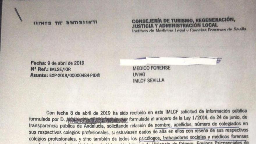Copia de la carta recibida por los trabajadores.