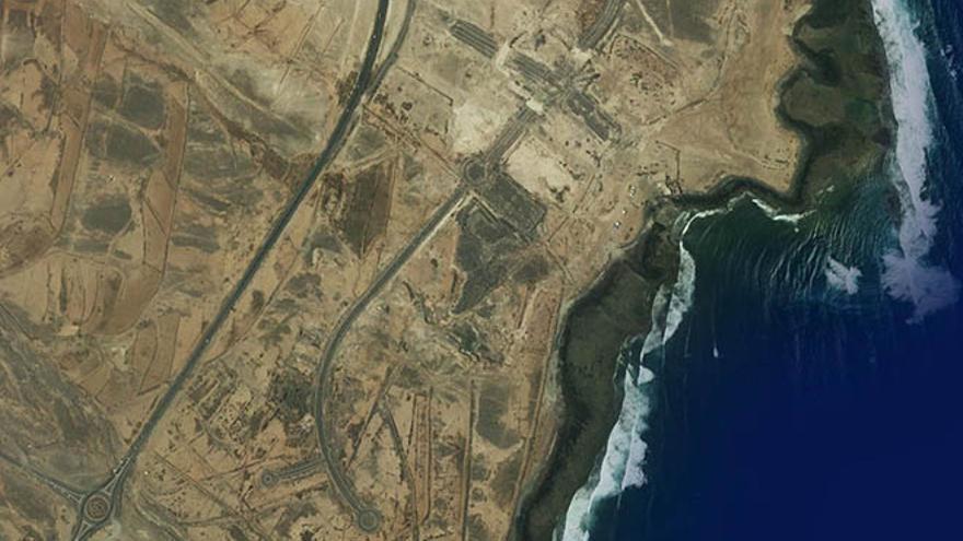 Vista aérea de los terrenos donde se proyectaba la urbanización.