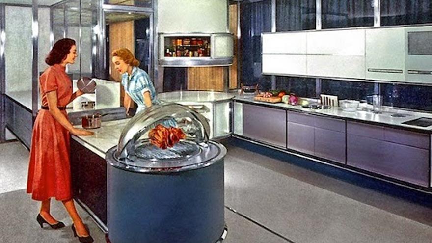 Así lucían las cocinas del mañana de los años 50