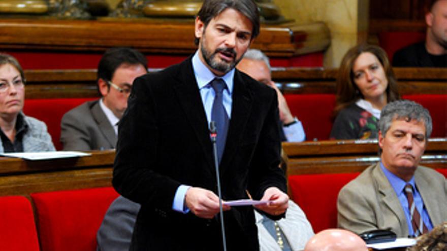 El portavoz de CiU en el Parlament, Oriol Pujol.
