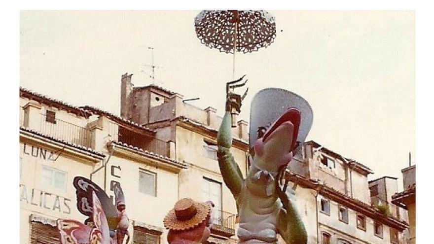 Falla 'La Primavera', de Salvador Debón con la que la falla Doctor Collado ganó su último primer premio de Especial en el año 1969