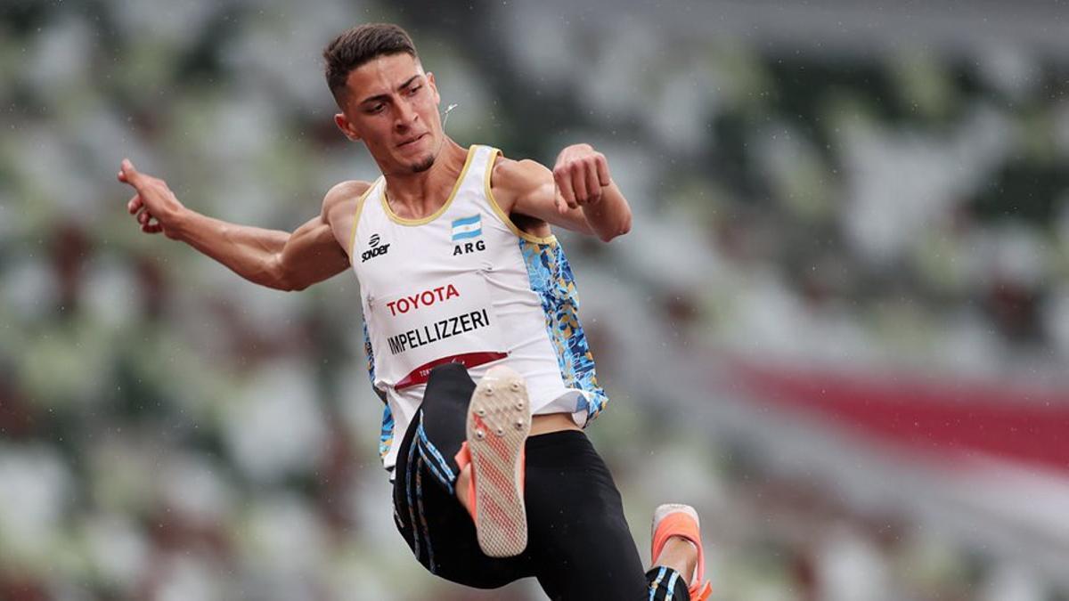 El rosarino Brian Lionel Impellizzeri logró la medalla plateada en salto en largo