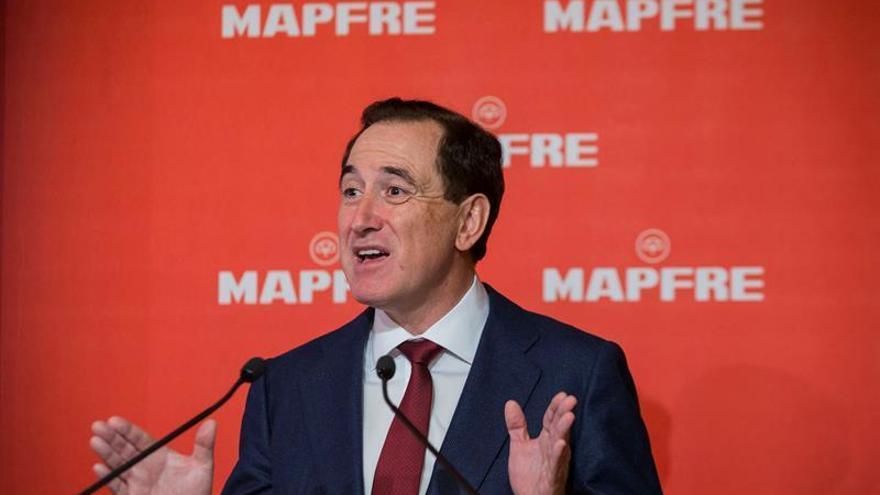 Mapfre gana 191,7 millones de euros en el primer trimestre, el 4,8 % menos