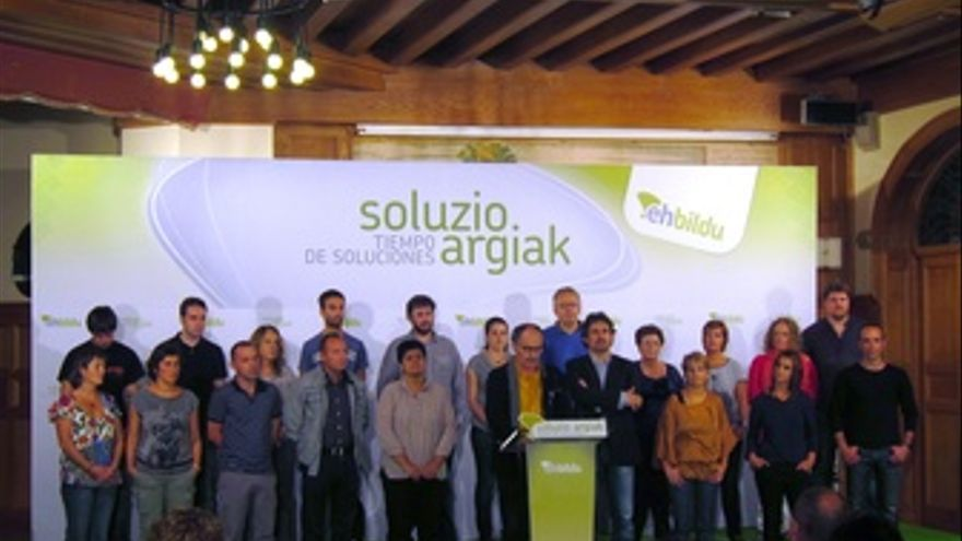 Presentación De La Lista De EH Bildu Por Gipuzkoa.