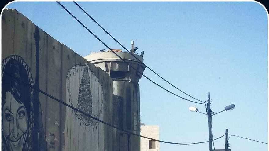 Parte del muro que separa Israel de los territorios ocupados.