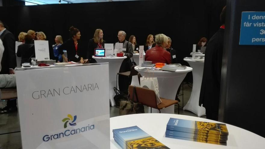 Gran Canaria en la Travel News Market celebrada en Estocolmo (Suecia).