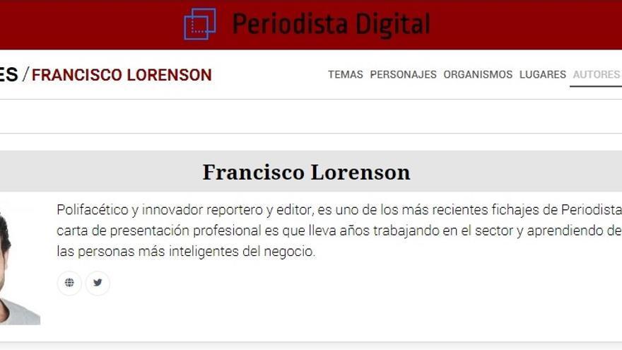 El perfil de Francisco Lorenson