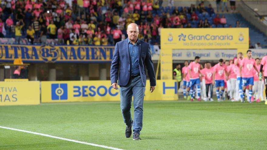 Pepe Mel, en el Estadio Gran Canaria